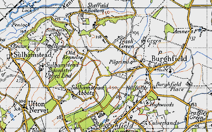 Old map of Whitehouse Green in 1945