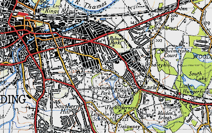 Old map of Whiteknights in 1940