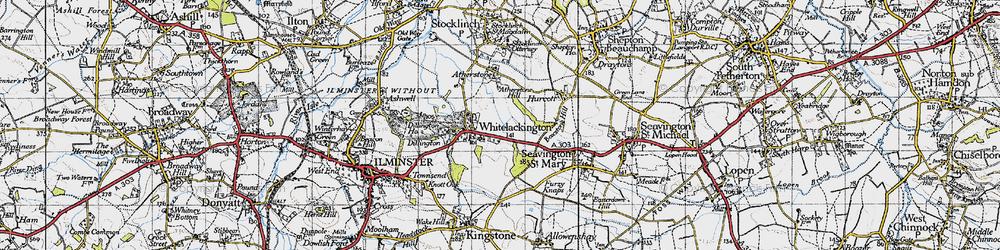 Old map of Whitelackington in 1945