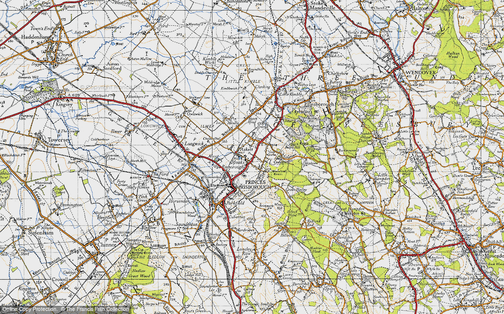 Old Map of Whiteleaf, 1947 in 1947