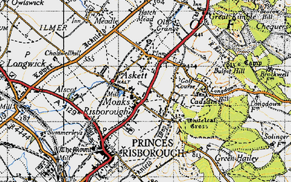 Old map of Whiteleaf in 1947