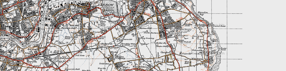 Old map of Whiteleas in 1947