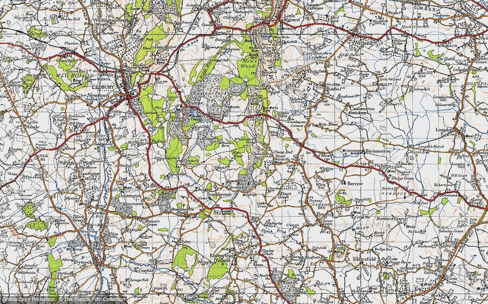 Old Map of Whiteleaved Oak, 1947 in 1947