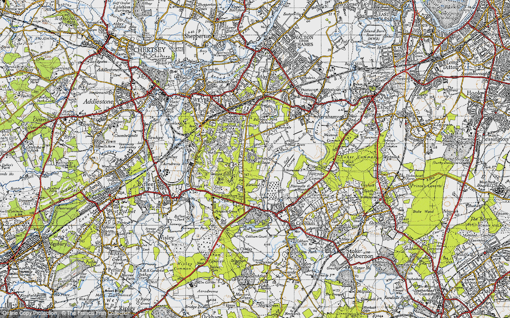 Old Map of Whiteley Village, 1940 in 1940