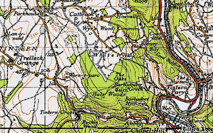 Old map of Whitelye in 1946