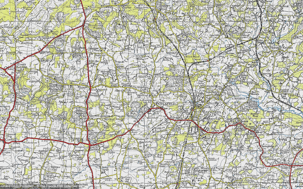Old Map of Whitemans Green, 1940 in 1940
