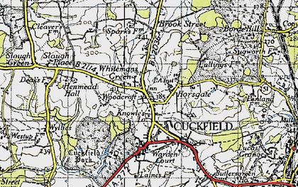Old map of Whitemans Green in 1940