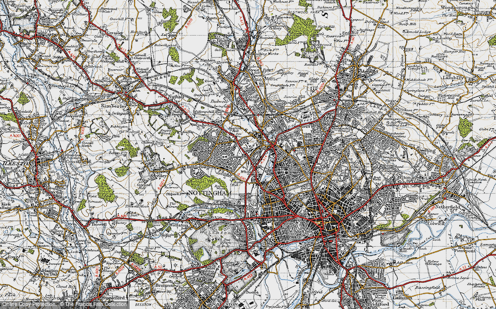 Old Map of Whitemoor, 1946 in 1946