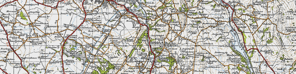 Old map of Whitemoor in 1947