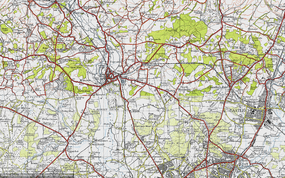 Old Map of Whitenap, 1945 in 1945