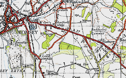 Old map of Whitenap in 1945