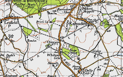 Old map of Whiteoak Green in 1946