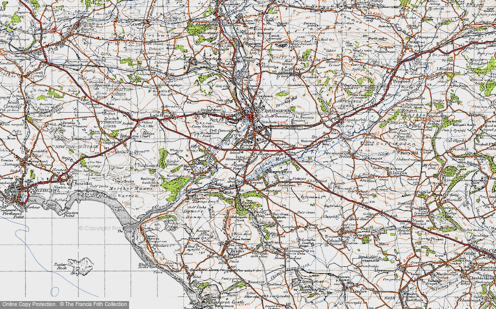 Old Map of Whiterock, 1947 in 1947