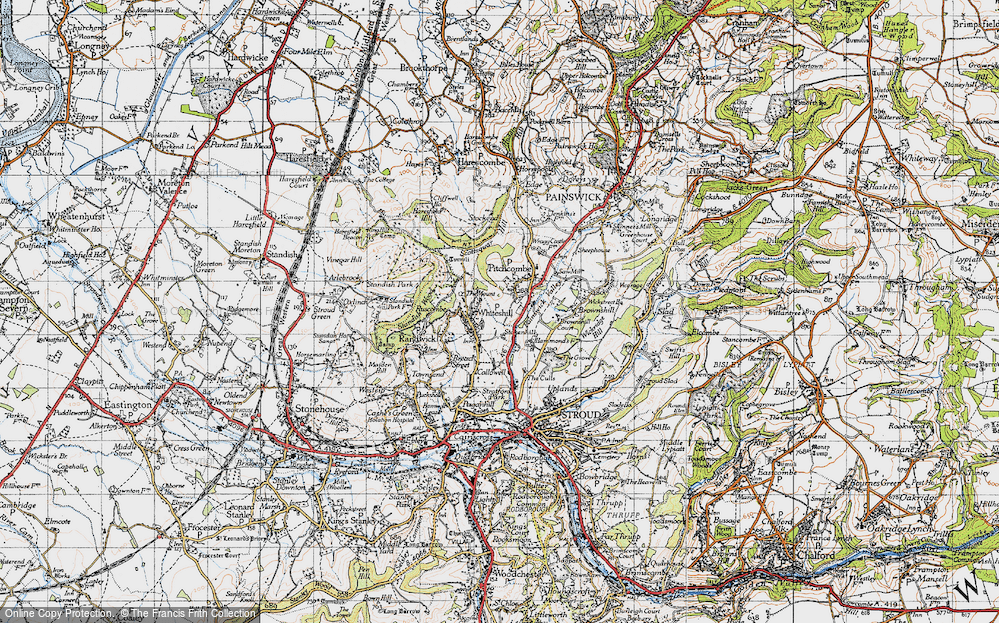 Old Map of Whiteshill, 1946 in 1946