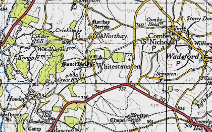 Old map of Whitestaunton in 1946