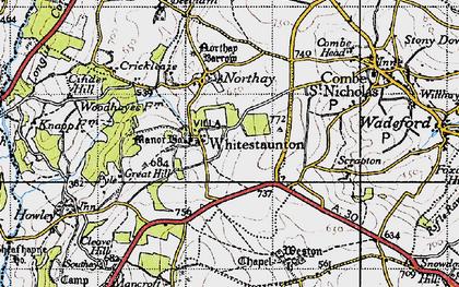 Old map of Whitestaunton in 1946