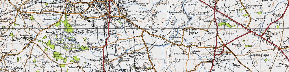 Old map of Whitestone in 1946
