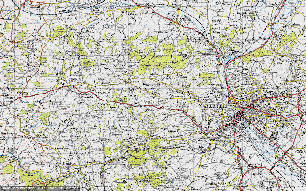 Old Map of Historic Map covering Alphincombe in 1946