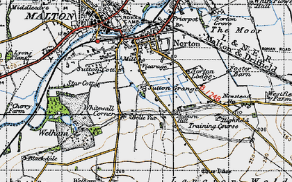Old map of Leat Ho in 1947