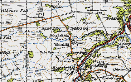 Old map of Agarshill Fell in 1947