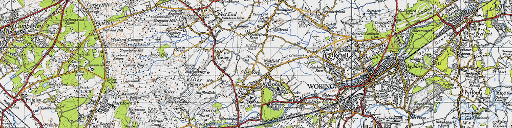 Old map of Whitfield Court in 1940