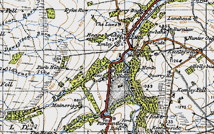 Old map of Whitfield Hall in 1947