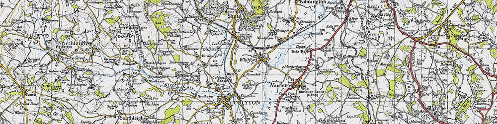 Old map of Whitford in 1946