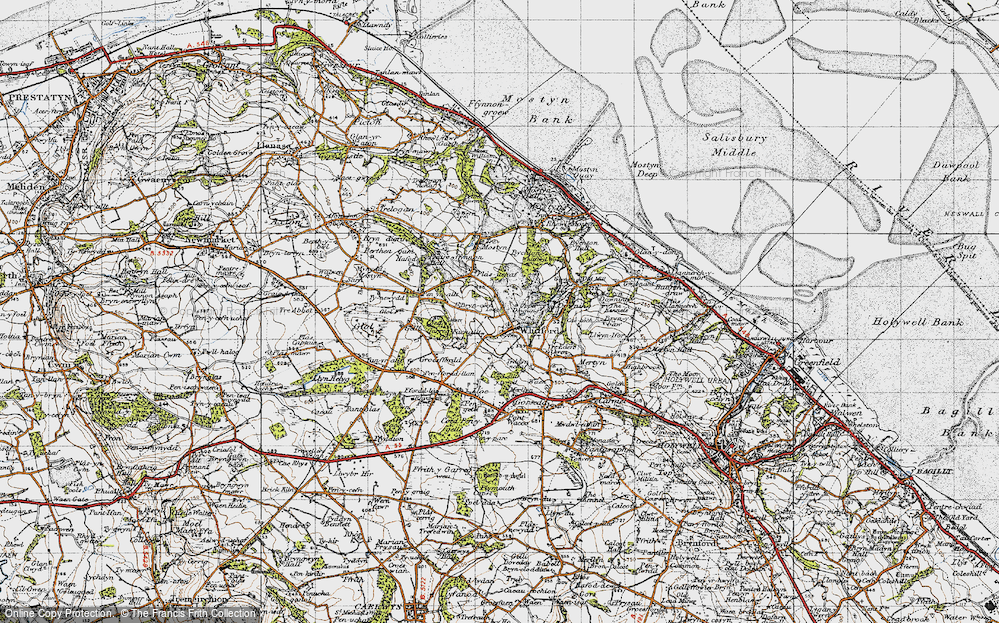 Old Map of Whitford, 1947 in 1947