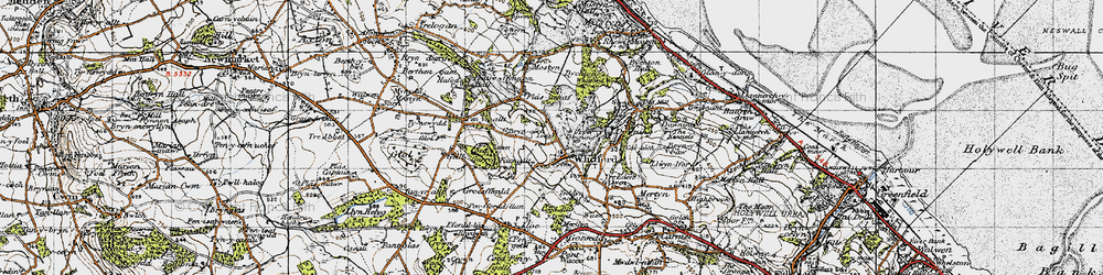 Old map of Whitford in 1947