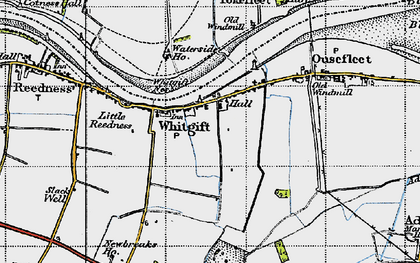 Old map of Adlingfleet Grange in 1947