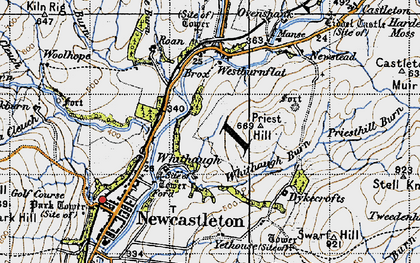 Old map of Whithaugh in 1947
