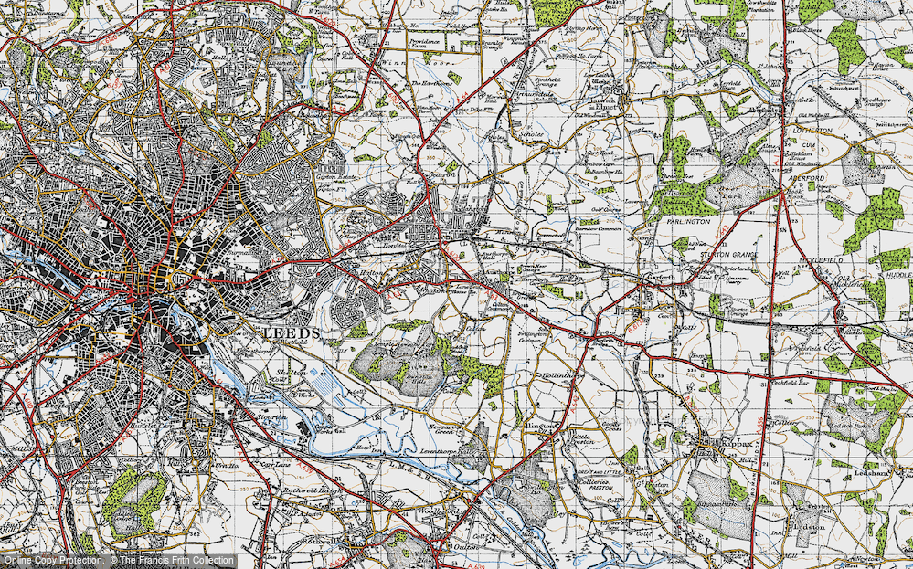 Old Map of Whitkirk, 1947 in 1947