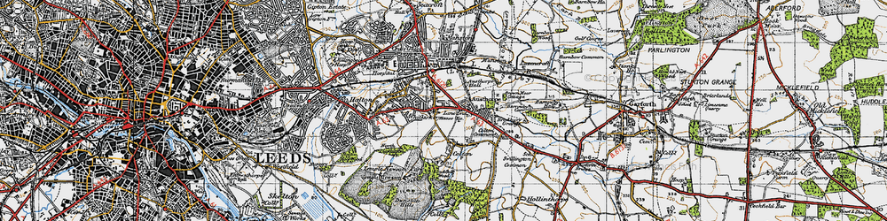 Old map of Whitkirk in 1947