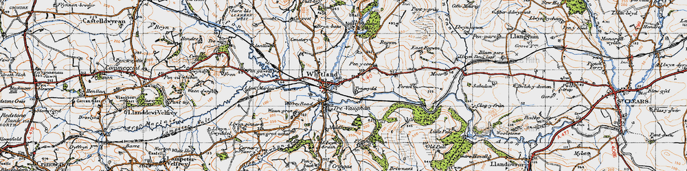 Old map of Whitland in 1946