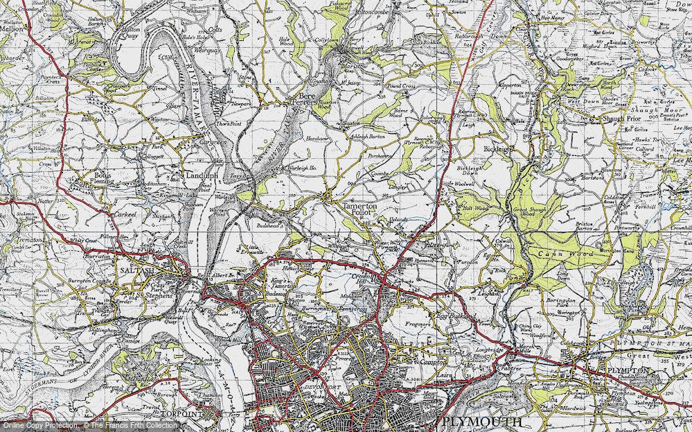 Old Map of Whitleigh, 1946 in 1946