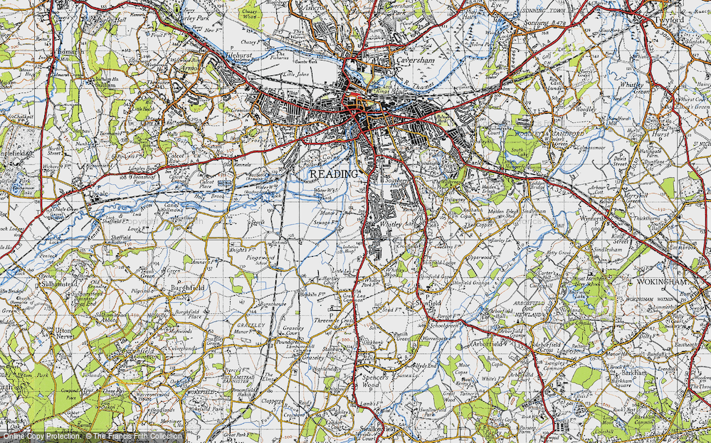 Old Map of Whitley, 1940 in 1940