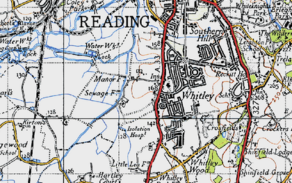 Old map of Whitley in 1940