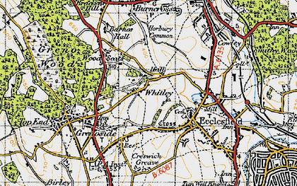 Old map of Whitley in 1947