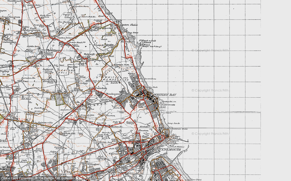 Old Map of Whitley Bay, 1947 in 1947