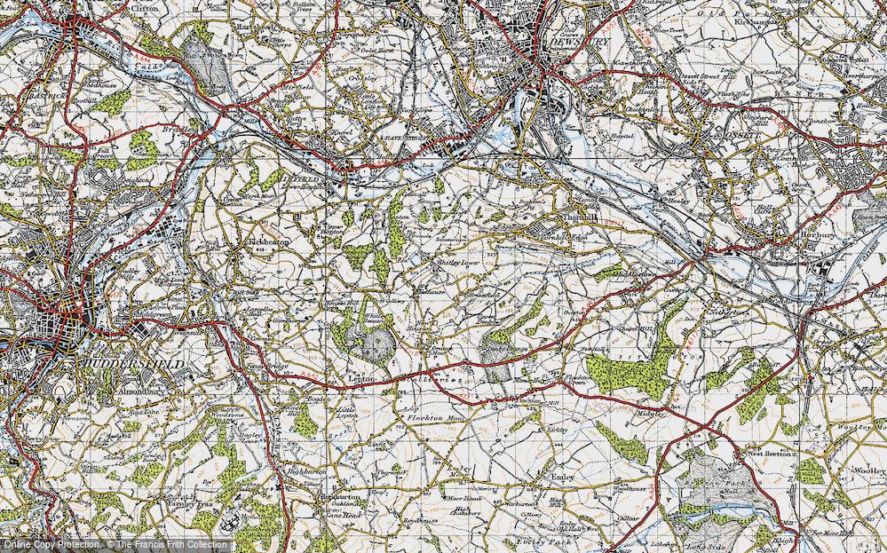 Old Map of Whitley Lower, 1947 in 1947