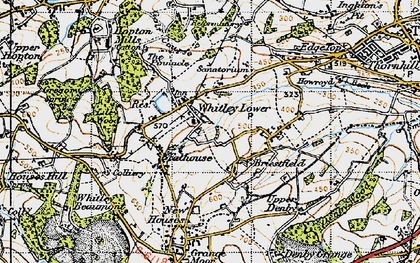 Old map of Whitley Lower in 1947