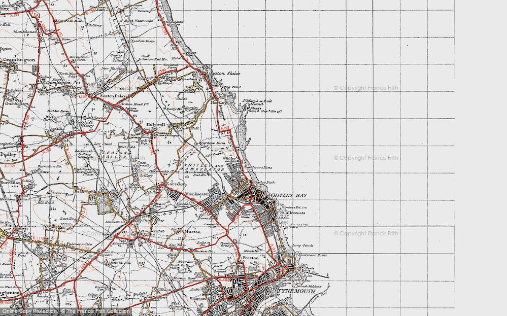 Old Map of Whitley Sands, 1947 in 1947