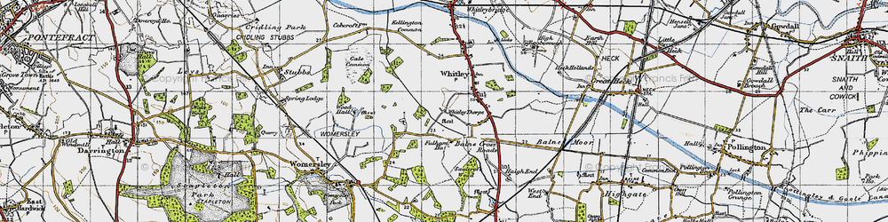 Old map of Whitley Thorpe in 1947