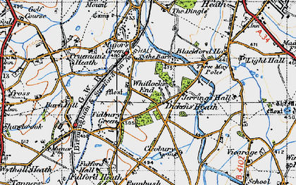 Old map of Whitlock's End in 1947
