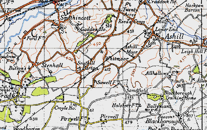Old map of Whitmoor in 1946