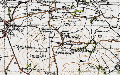 Old map of Whitrigg in 1947