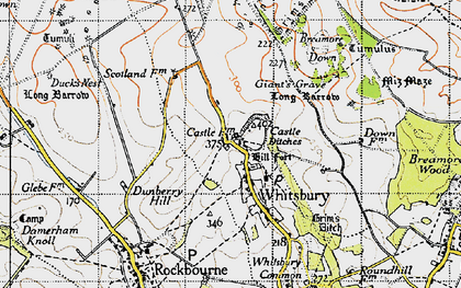 Old map of Whitsbury in 1940