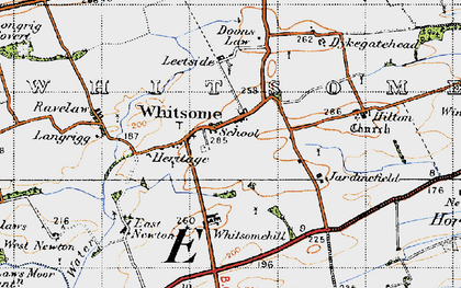 Old map of Whitsome in 1947