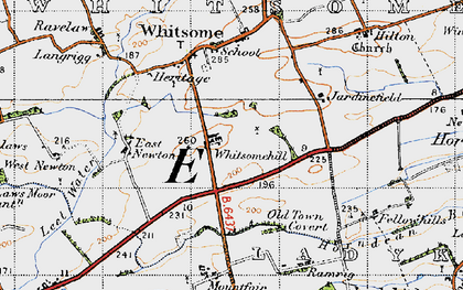 Old map of West Newton in 1947