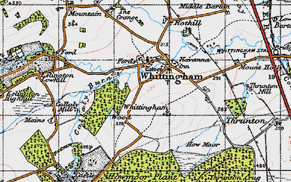 Old map of Whittingham Wood in 1947